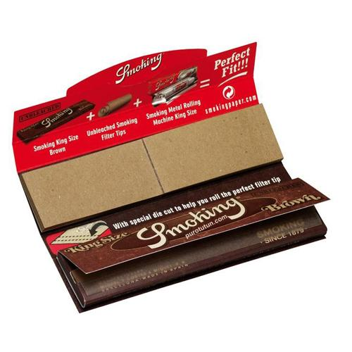 SMOKING Brown Kingsize Paper with Tips (24Booklet)